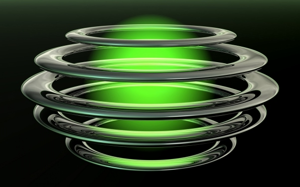 Зеленый абстрактный шар