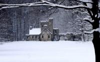 картинки старый дом зимой