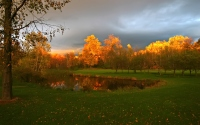 картинки осеннее озеро