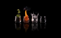 картинки земля, огонь, вода и воздух