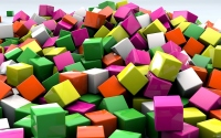 картинки цветные кубики