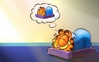картинки гарфилд спит